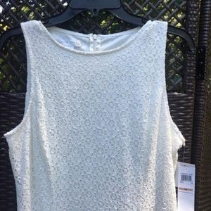 New London Times soft white lace dress